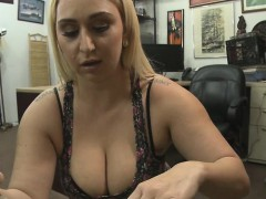 Chubby Blonde Amateur Sucking Dick In Pawn Shop