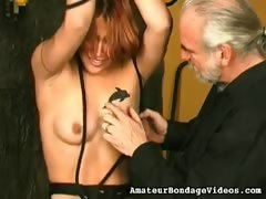 Bald pussy tied