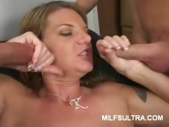 Busty MILF Kayla Does Threesome
