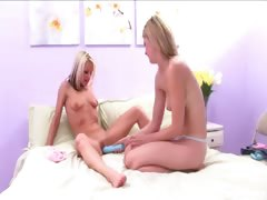 Smokin' hottie Faith snatched pretty Celeste in the babes