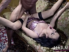 Petite girl takes on a massive dick