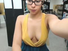 Brave Webcam Girl Naked In Library 3