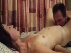 Wife gets pussy licked and missionary fucked